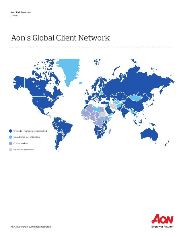 Aon global client network map aon global client network owned or management controlled correspondent coordinated out of territory restricted operations sciox Images