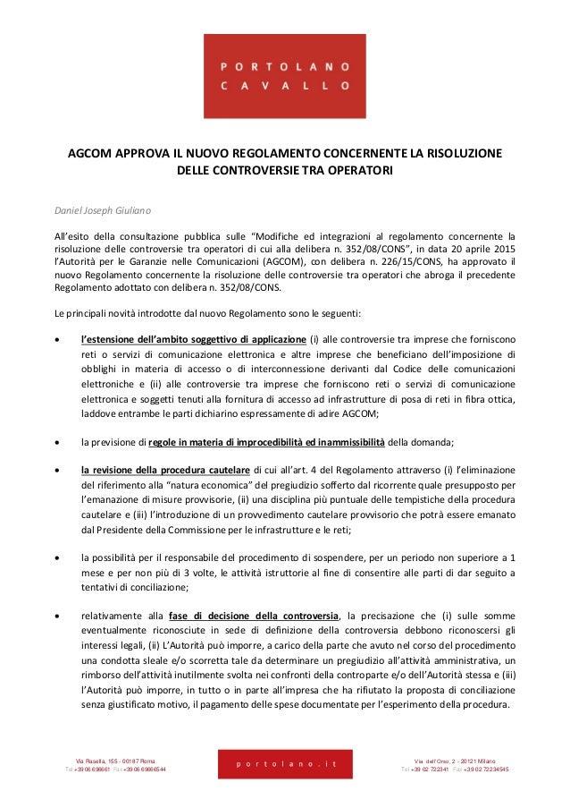 Via Rasella, 155 - 00187 Roma Via dell'Orso, 2 - 20121 Milano Tel +39 06 696661 Fax +39 06 69666544 Tel +39 02 722341 Fax ...