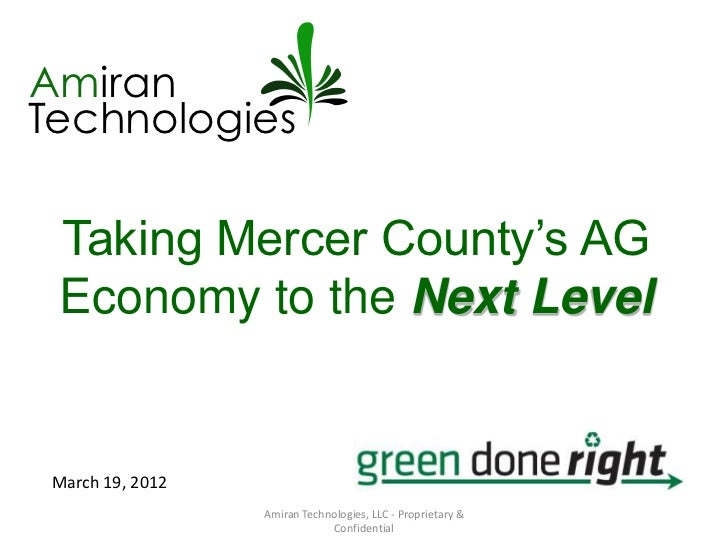 AmiranTechnologies Taking Mercer County's AG Economy to the Next Level March 19, 2012                  Amiran Technologies...