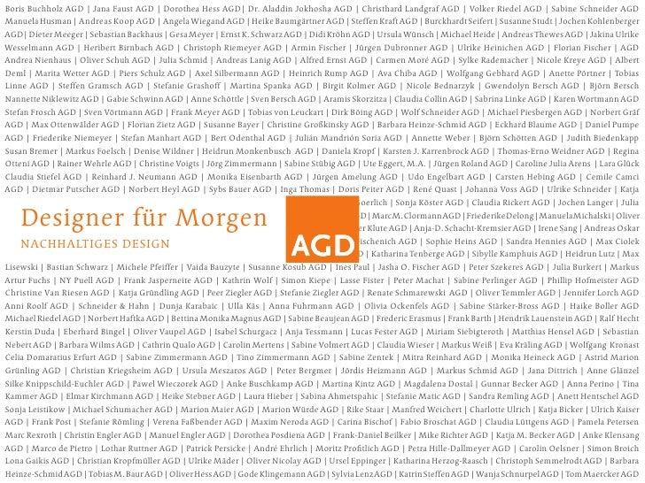 Boris Buchholz AGD | Jana Faust AGD | Dorothea Hess AGD| Dr. Aladdin Jokhosha AGD | Christhard Landgraf AGD | Volker Riede...