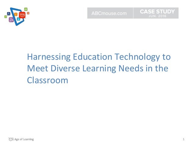 1 Harnessing Education Technology to Meet Diverse Learning Needs in the Classroom