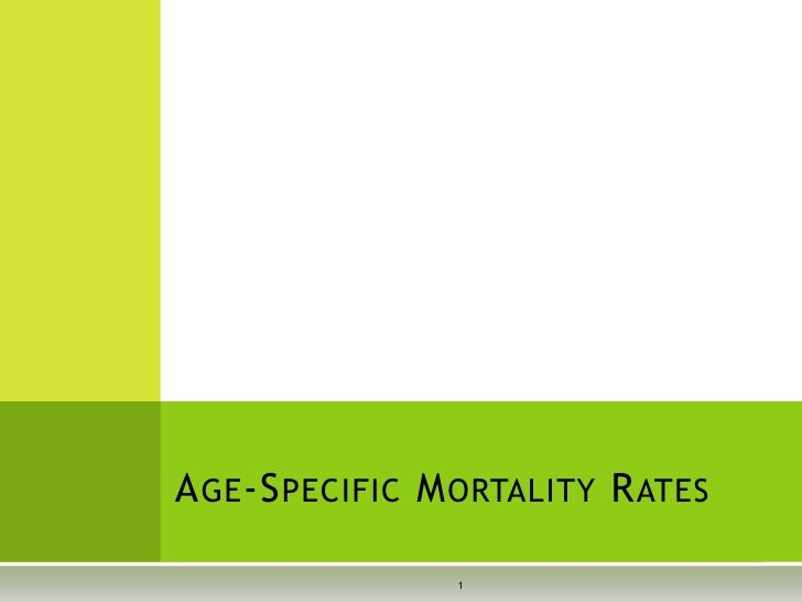 Age Specific Mortality Rates