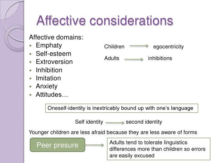 Affective considerationsAffective domains: Emphaty                         Children              egocentricity Self-este...
