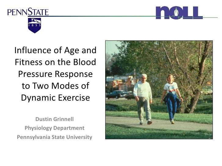 Influence of Age and Fitness on the Blood  Pressure Response   to Two Modes of   Dynamic Exercise        Dustin Grinnell  ...