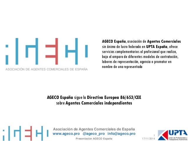 Asociación de Agentes Comerciales de Españawww.ageco.pro @ageco_proinfo@ageco.pro  AGECO España, asociación de Agentes Com...