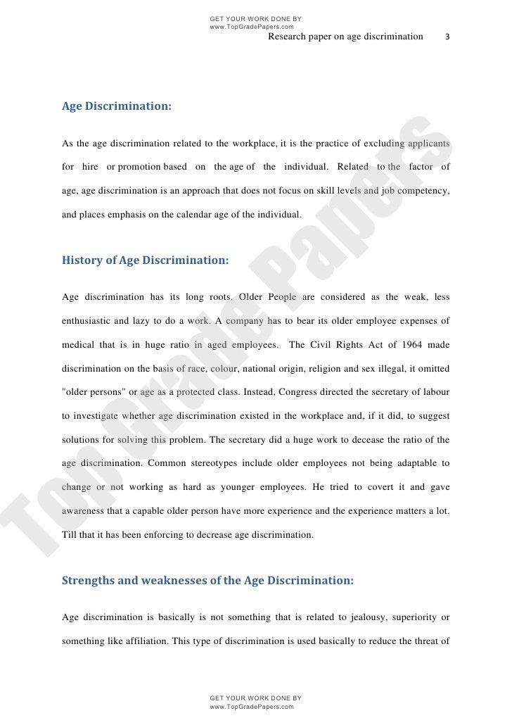 employment discrimination essay outline
