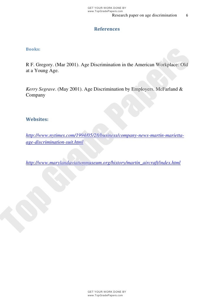 age discrimination academic essay assignment topgradepapers c  topgradepapers com 6