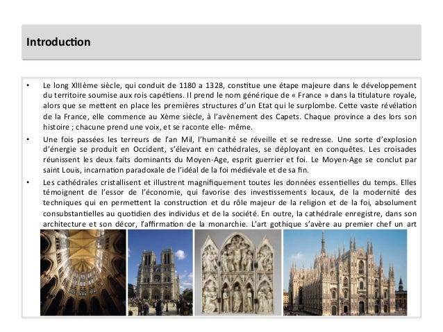 Introduc)on • Le long XIIIème siècle, qui conduit de 1180 a 1328, cons5tue une étape majeure...