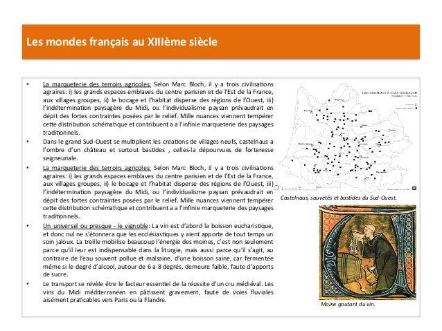 Les mondes français au XIIIème siècle • La  marqueterie  des  terroirs  agricoles:  Selon  Marc ...