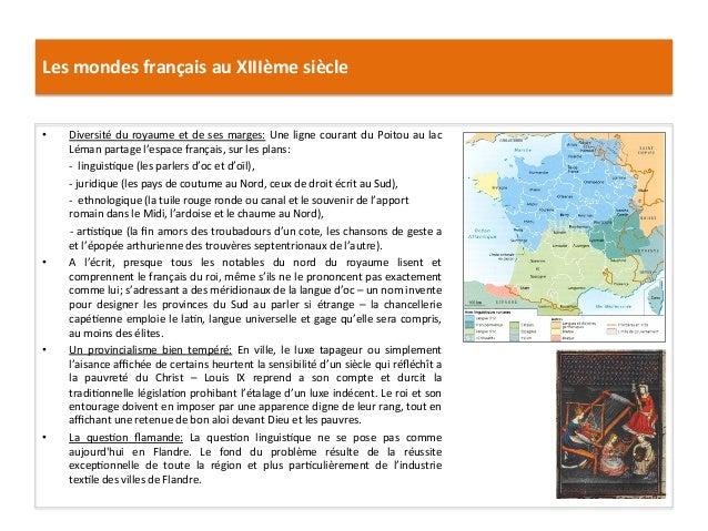 Les mondes français au XIIIème siècle • Diversité du royaume et de ses marges: Une ligne co...