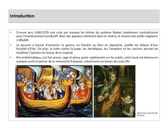 Introduc)on • S'ouvre  vers  1260/1270  une  crise  qui  marque  les  limites  du  système  féoda...