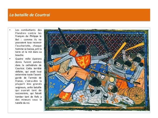 La bataille de Courtrai • Les  combaIants  des Flandres  contre  les Français  de  Philippe  le...