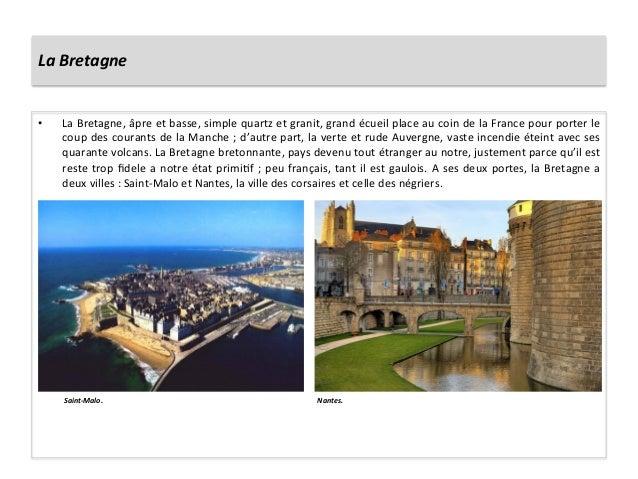 La Bretagne • La Bretagne, âpre et basse, simple quartz et granit, grand écueil place au co...