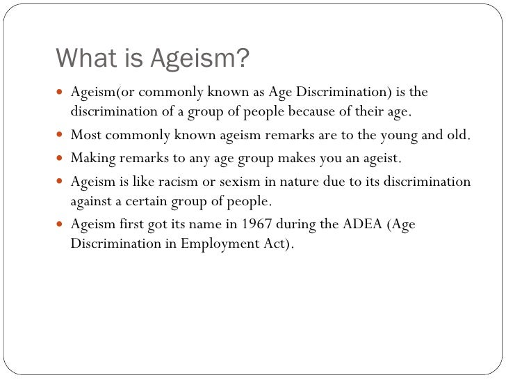 ageism and the media essay