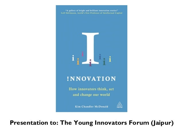 Presentation to: The Young Innovators Forum (Jaipur)