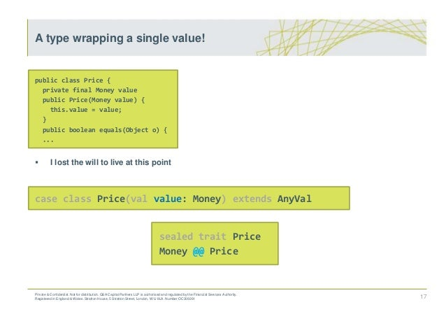 public class Price { private final Money value public Price(Money value) { this.value = value; } public boolean equals(Obj...