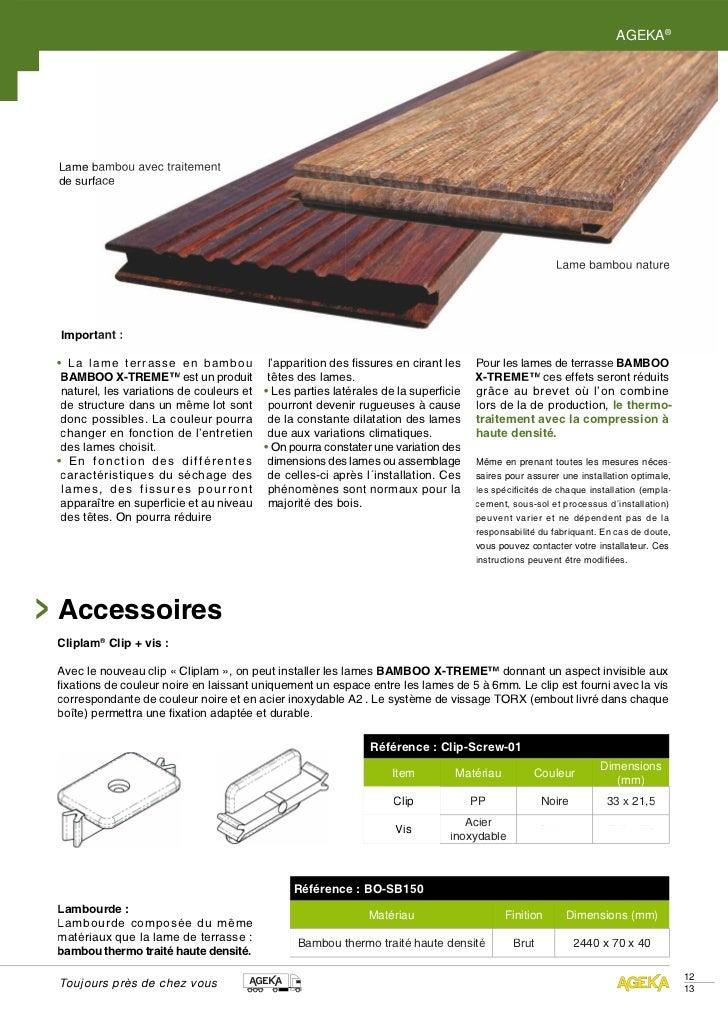 AGEKA®Lame bambou avec traitementde surface                                                                               ...