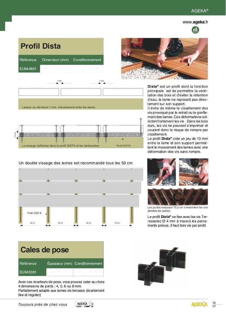 AGEKA®         Profil Dista        Référence            Dimension (mm)       Conditionnement        EU944801              ...