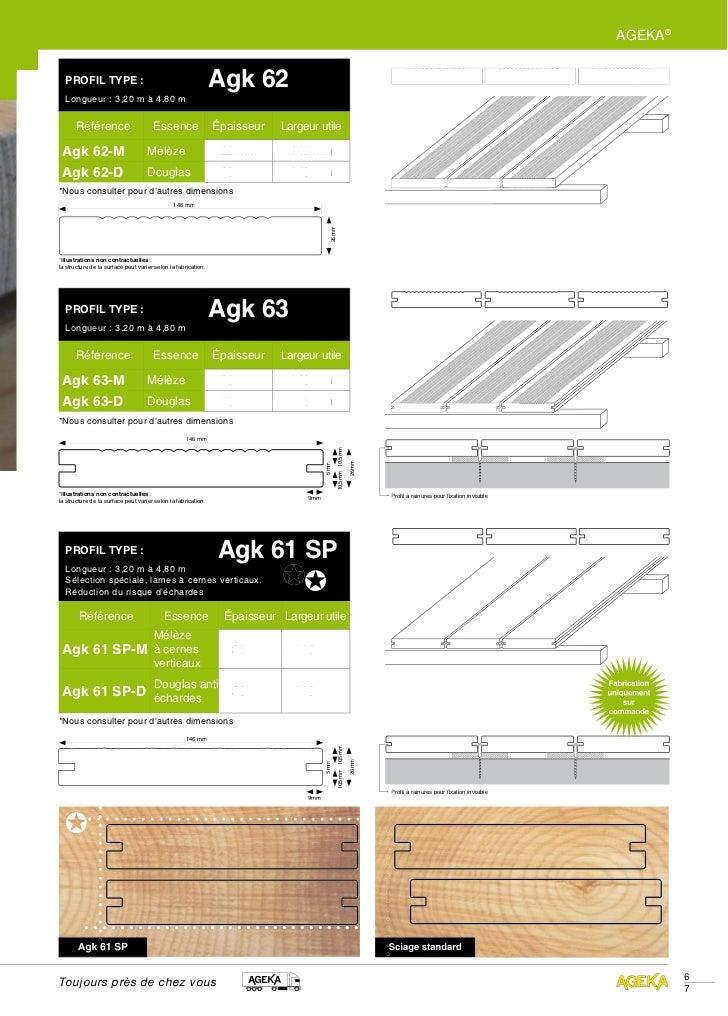 AGEKA®  PROFIL TYPE :                                                Agk 62  Longueur : 3,20 m à 4,80 m       Référence   ...