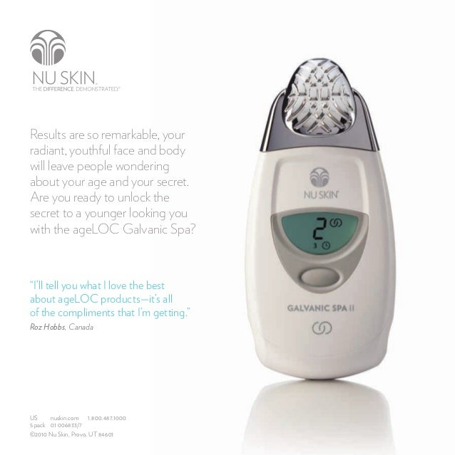 Nu Skin Products: AgeLOC Galvanic Facial Spa