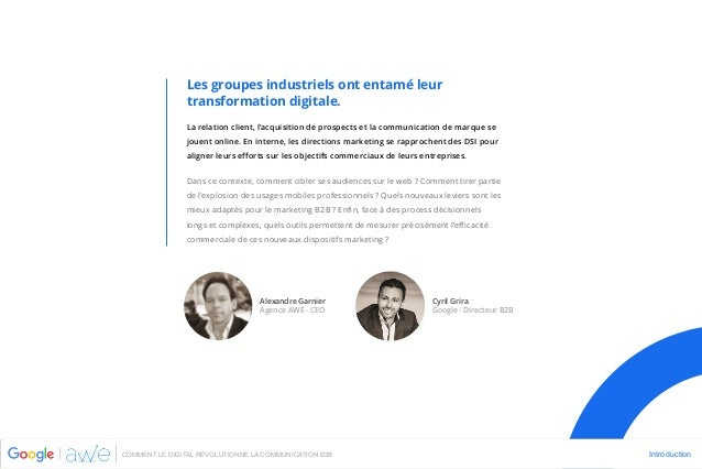 Agence AWE - Google - livre blanc - Comment le digital révolutionne la communication B2B - nov 2015 Slide 2