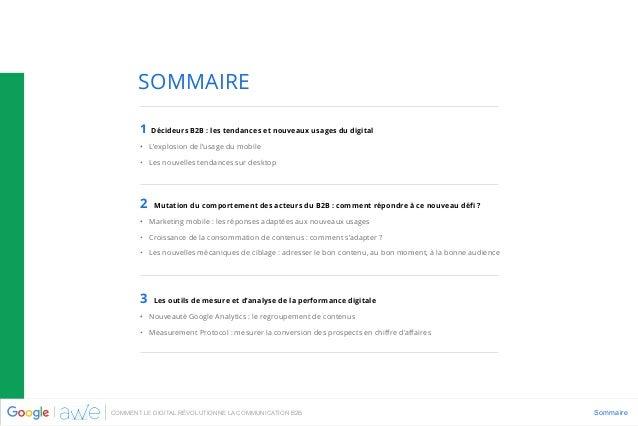 Agence AWE - Google - livre blanc - Comment le digital révolutionne la communication B2B - nov 2015 Slide 3