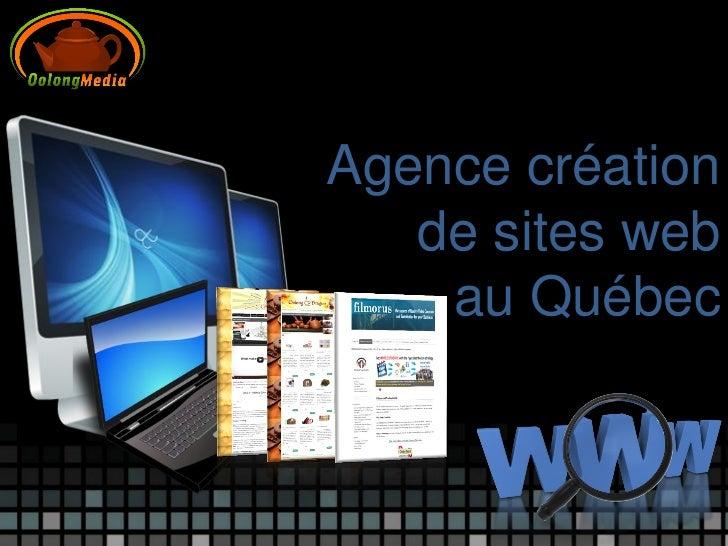 Agence création   de sites web    au Québec