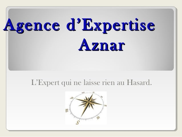 Agence d'ExpertiseAgence d'Expertise AznarAznar L'Expert qui ne laisse rien au Hasard.
