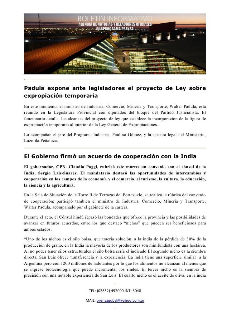 Padula expone ante legisladores el proyecto de Ley sobreexpropiación temporariaEn este momento, el ministro de Industria, ...