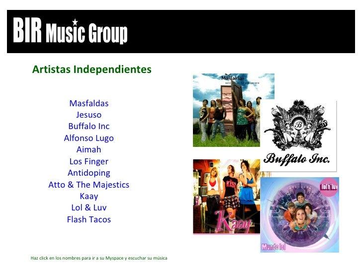 <ul><li>Masfaldas </li></ul><ul><li>Jesuso </li></ul><ul><li>Buffalo Inc </li></ul><ul><li>Alfonso Lugo </li></ul><ul><li>...