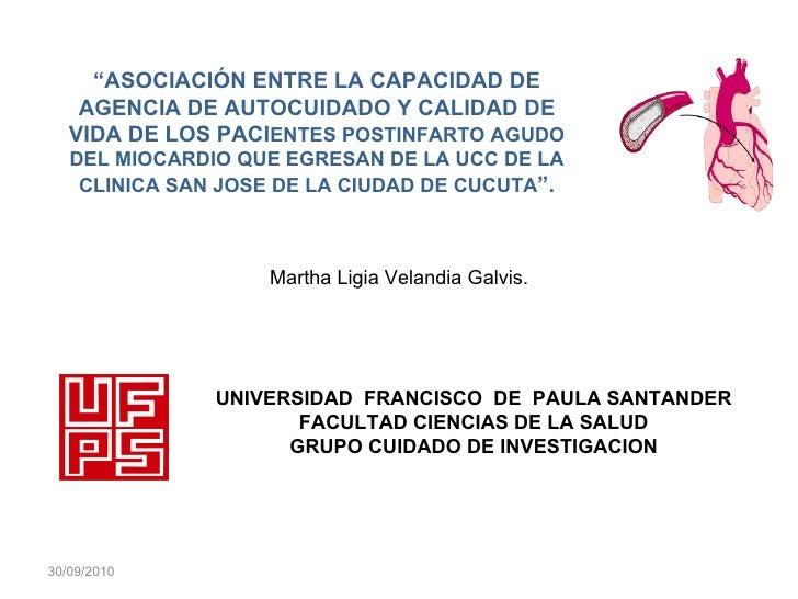 """UNIVERSIDAD  FRANCISCO  DE  PAULA SANTANDER FACULTAD CIENCIAS DE LA SALUD GRUPO CUIDADO DE INVESTIGACION """" ASOCIACIÓN ENTR..."""