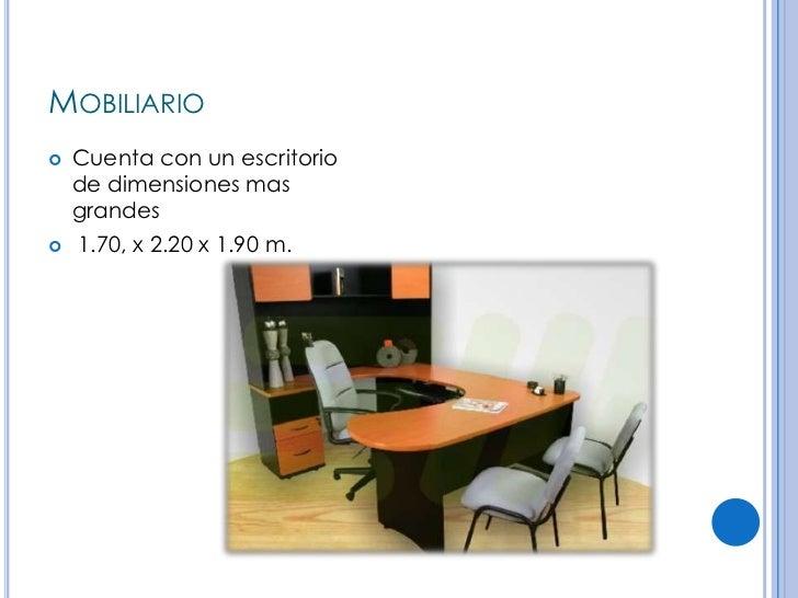 Agencia de autos for Dimensiones de un escritorio de oficina