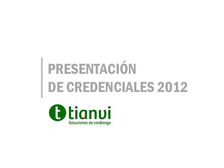 PRESENTACIÓNDE CREDENCIALES 2012