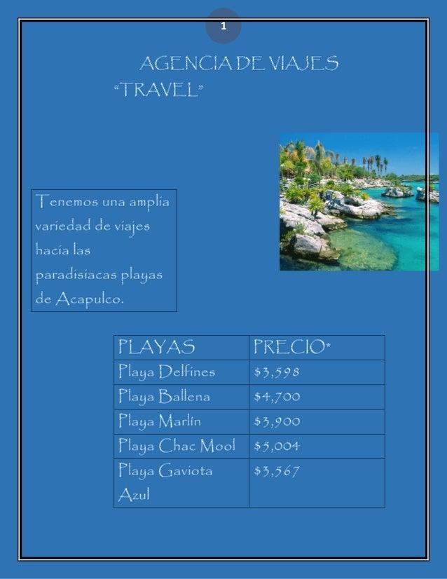 Agencia de viajes Slide 1