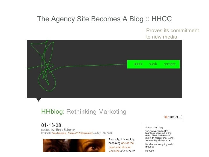 The Agency Site Becomes A Blog :: HHCC Proves its commitment to new media