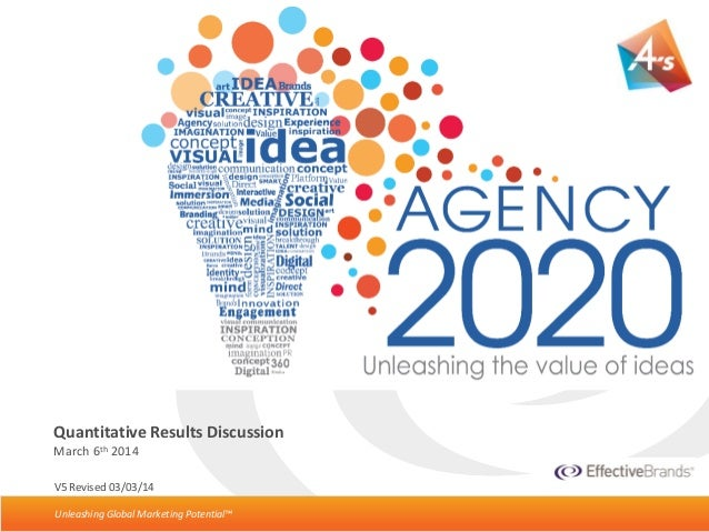 Unleashing Global Marketing Potential™ Agency2020 Initial Quant Debrief• Page 1Unleashing Global Marketing Potential™ V5 R...
