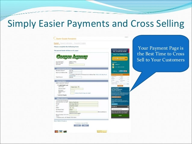 Simply Easier Payments and Cross Selling Your Payment Page is the Best Time to Cross Sell to Your Customers