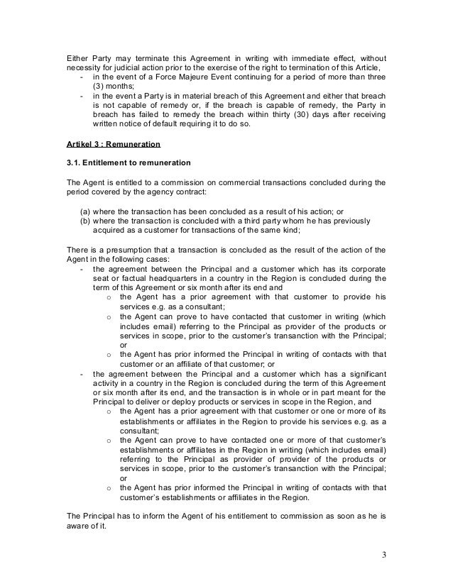 Agency Agreement Example Template