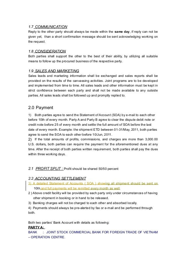 Agency agreement hnt ma xshipping – Business Agency Agreement