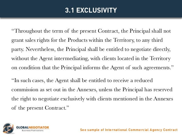 International Commercial Agency Contract  Contract Template And Samp