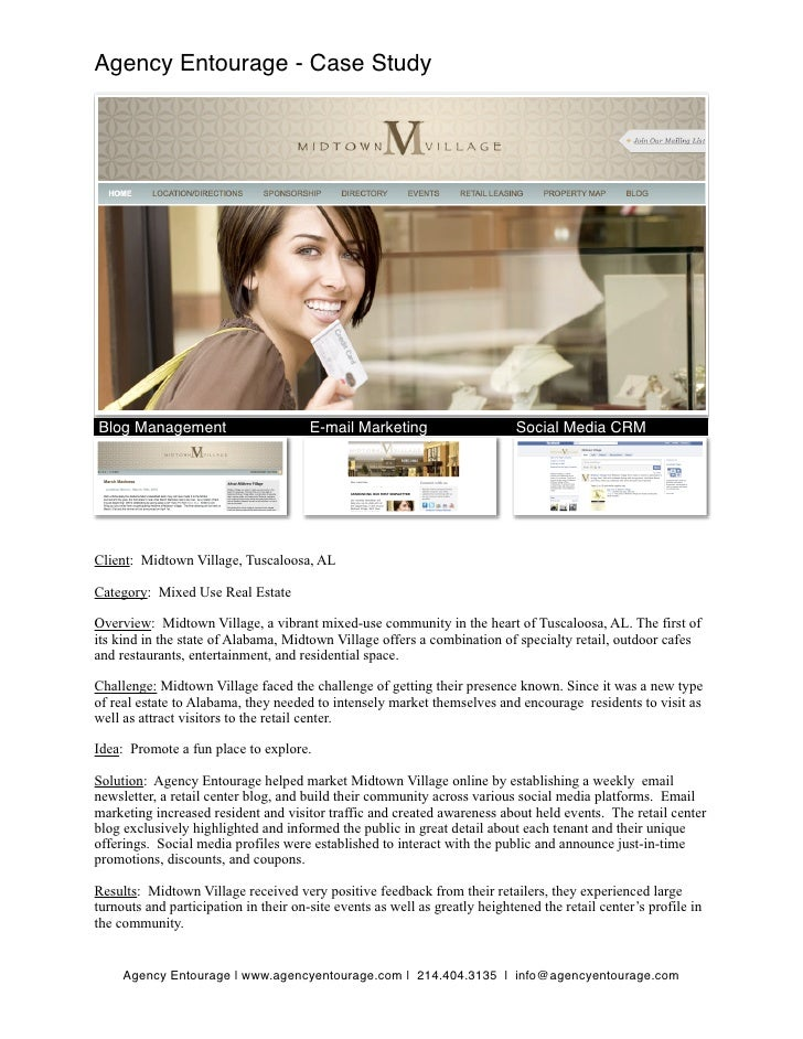 Agency Entourage - Case Study     Blog Management                        E-mail Marketing                      Social Medi...