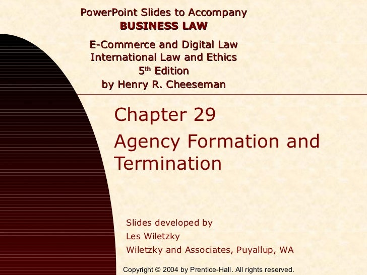 PowerPoint Slides to Accompany      BUSINESS LAW E-Commerce and Digital Law International Law and Ethics           5th Edi...