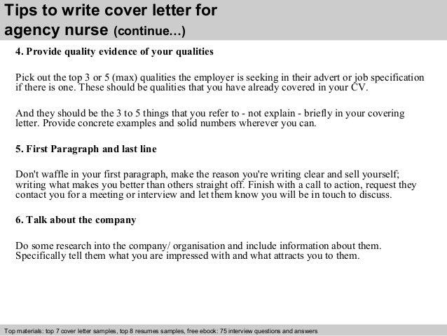 Agency nurse cover letter