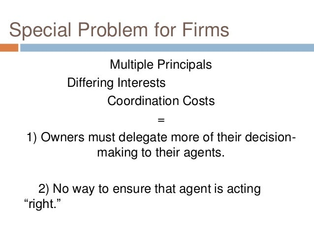 Agency Costs and Legal Strategies