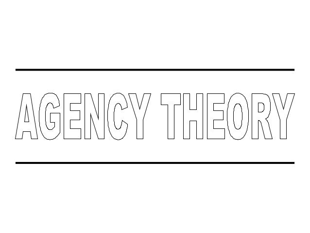 What Is Agency Theory ? Agency theory is the branch of financial economics that looks at conflicts of interest between peo...