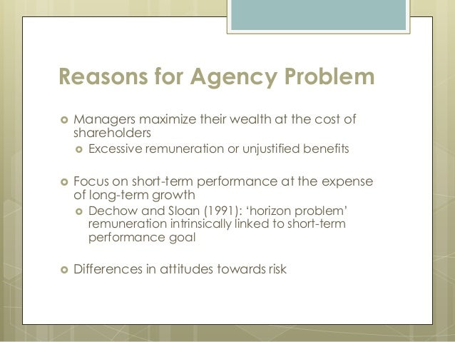 benefits of agency theory