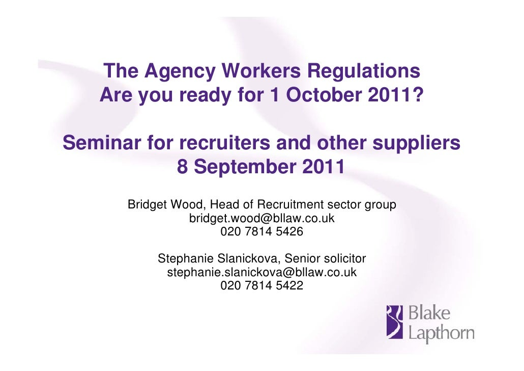The Agency Workers Regulations 2010