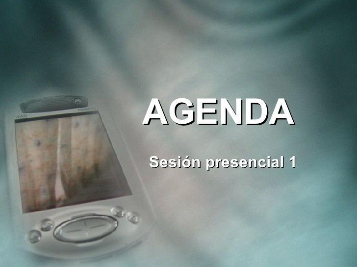 AGENDA  Sesión presencial 1