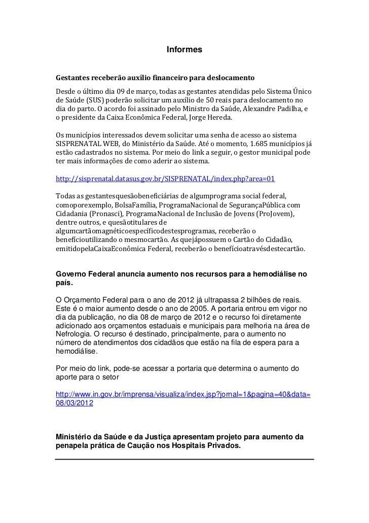 InformesGestantes receberão auxílio financeiro para deslocamentoDesde o último dia 09 de março, todas as gestantes atendid...
