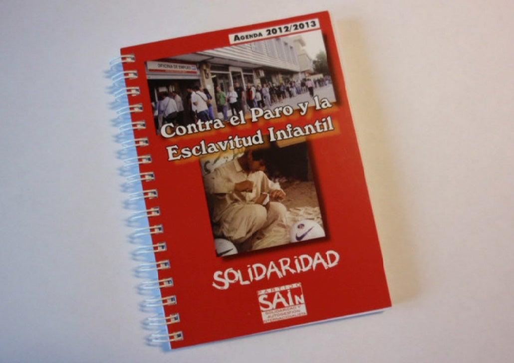 Agenda 2012/2013: cada mes 1 experiencia de lucha solidaria